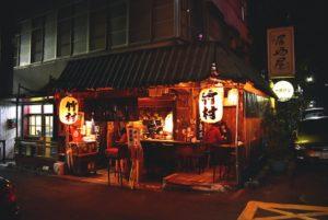 台北/竹村居酒屋/雖然是老梗的我可能不會愛你居酒屋/但好吃又划算沒話說啦/推奶油金針菇 明太子玉子燒 烤飯糰/看得到台北101