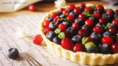酸甜的多重享受--莓果乳酪巧克力塔