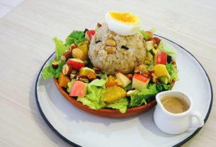 【新竹東區 | 午茶】稻實~自家種稻米食新提案!純米舒芙蕾、糙米飯糰沙拉的健康午茶