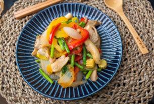 【麥仔寵妻食譜】挑食者剋星:黑胡椒蘆筍雙椒雞肉~這雞胸肉品質也太好了吧!